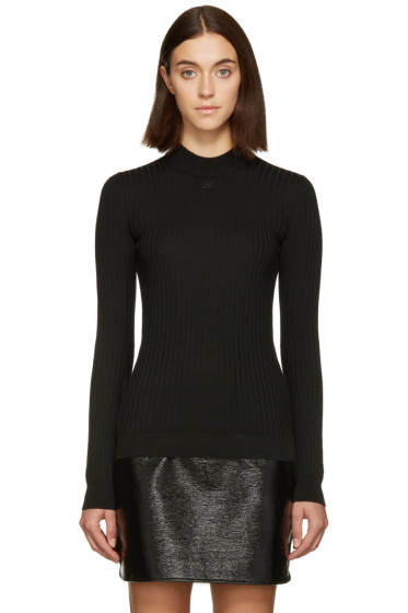 Courrèges - Black Classic Ribbed Pullover