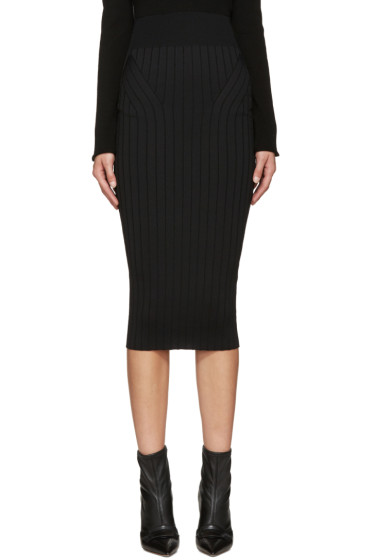 Victoria Beckham - Black Ribbed Skirt