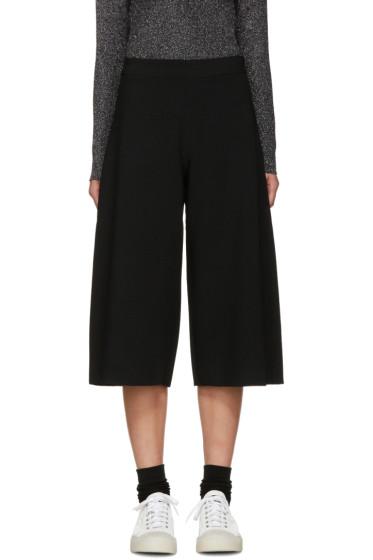 Sara Lanzi - Black Stretch-Crepe Culottes