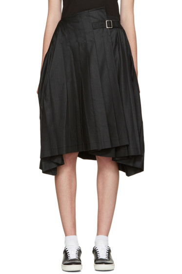 Tricot Comme des Garçons - Black Pleated Belted Skirt