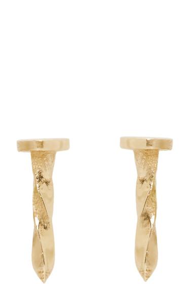 Lauren Klassen - Gold Tiny Nail Earrings