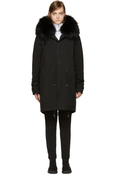 Mr & Mrs Italy - Black Fur Collar Parka