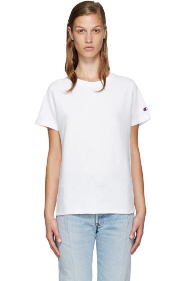 Champion Reverse Weave - White Logo T-Shirt