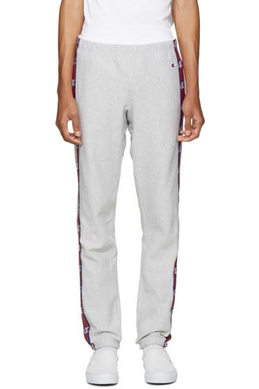 Champion Reverse Weave - Grey Side Logo Lounge Pants