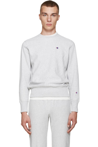 Champion Reverse Weave - Grey Reverse Weave Terry Pullover