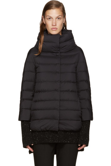 Herno - Black Nylon Cocoon Down Jacket