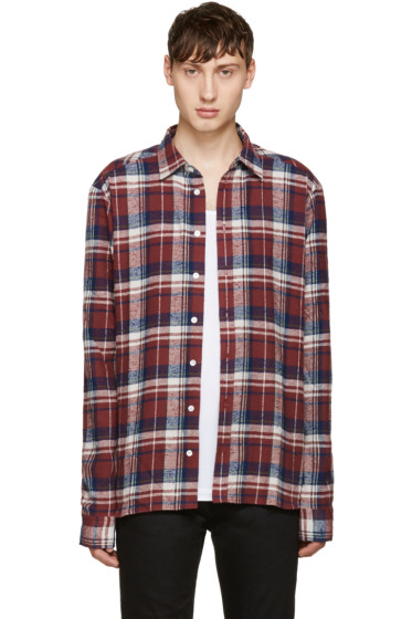 Faith Connexion - Burgundy Check Shirt