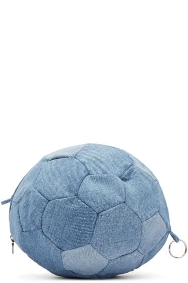 Bless - Blue Denim Football Clutch