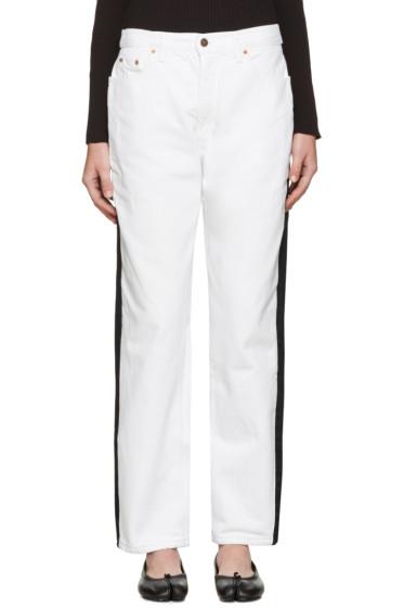 Bless - Black & White Pleatfront Jeans