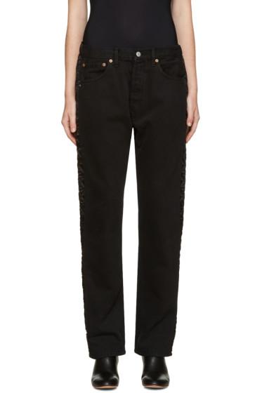 Bless - Black Padded Jeans