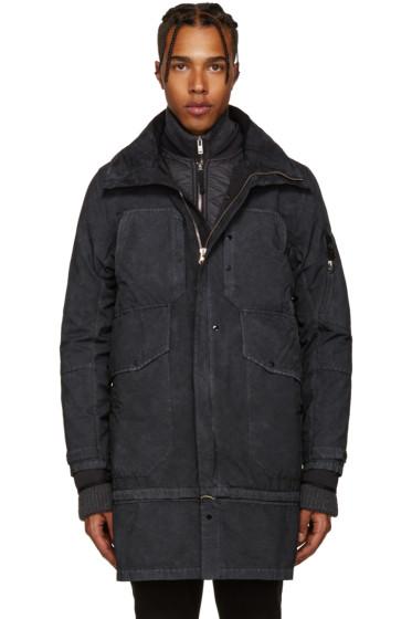 Stone Island Shadow Project - Black Garment Dyed David-TC Coat