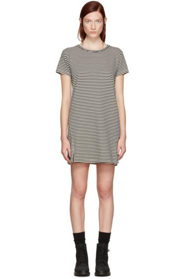 Amo - Black Striped Short Dress