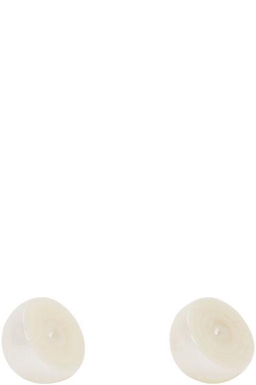 Melanie Georgacopoulos - White Sliced Pearl Tasaki Edition Earrings