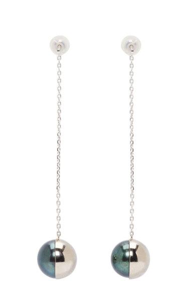 Melanie Georgacopoulos - White Gold Arlequin Tasaki Edition Pendant Earrings