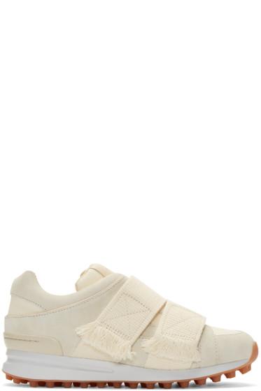 3.1 Phillip Lim -  Cream Suede Low-Top Trance Sneakers