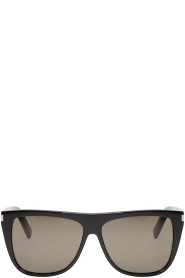Saint Laurent - Black SL 1 Flat Top Sunglasses