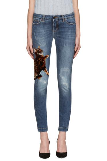 Dolce & Gabbana - Blue Bengal Kitten Jeans