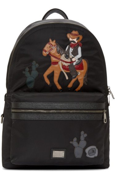 Dolce & Gabbana - Black Cowboy Backpack