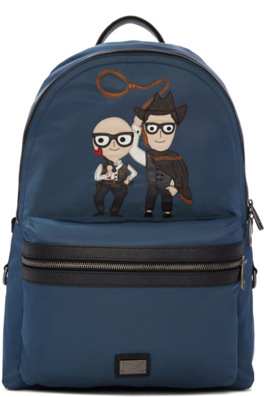 Dolce & Gabbana - Blue Designer & Cowboy Backpack