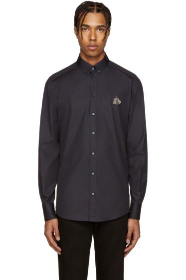 Dolce & Gabbana - Navy Embellished Bee Shirt