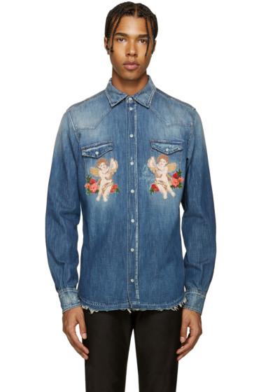 Dolce & Gabbana - Indigo Cherub Shirt