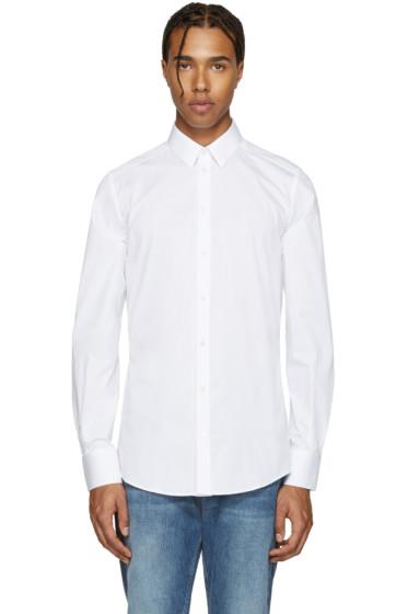 Dolce & Gabbana - White Poplin Gold Shirt