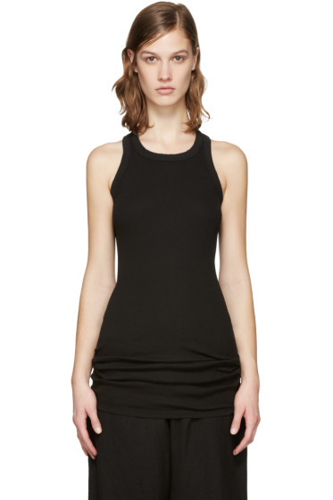 Rick Owens Drkshdw - Black Ribbed Tank Top