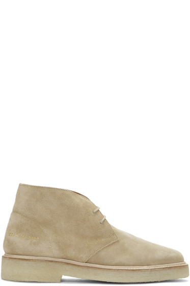 Common Projects - Tan Suede Chukka Boots