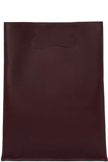 Maison Margiela - Burgundy Small Shopper Tote Bag