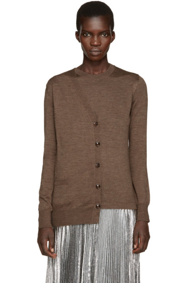 Maison Margiela - Brown Asymmetric Trompe L'Oeil Sweater