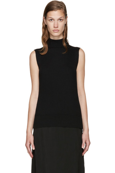 Maison Margiela - Black Sleeveless Turtleneck