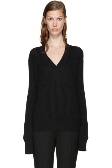 Maison Margiela - Black V-Neck Sweater