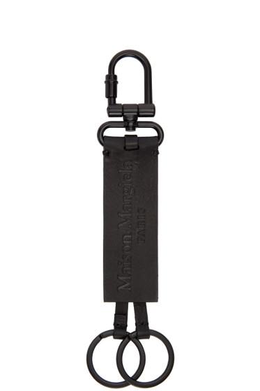 Maison Margiela - Black Leather Keychain