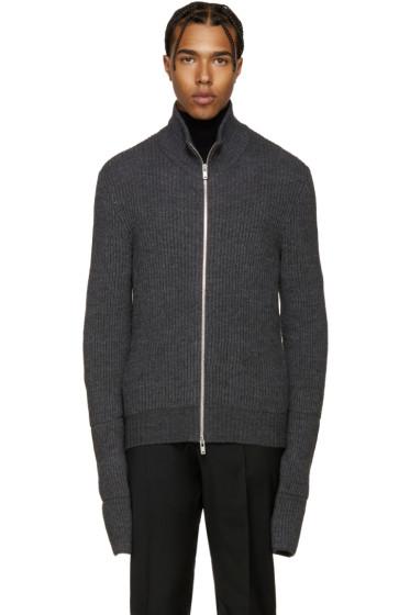 Maison Margiela - Grey Zip-Up Sweater