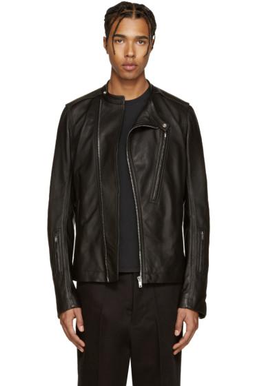 Rick Owens - Black Leather Cyclop Jacket