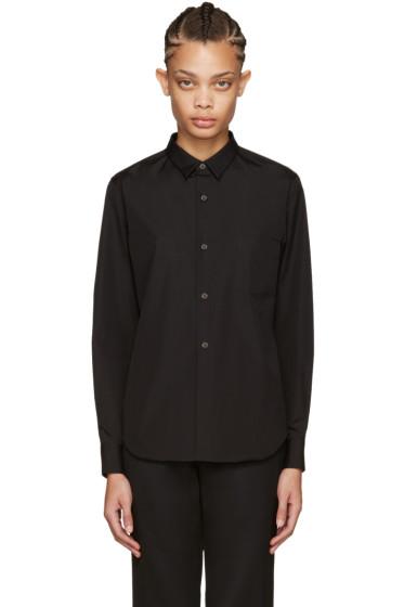 Comme des Garçons - Black Poplin Shirt