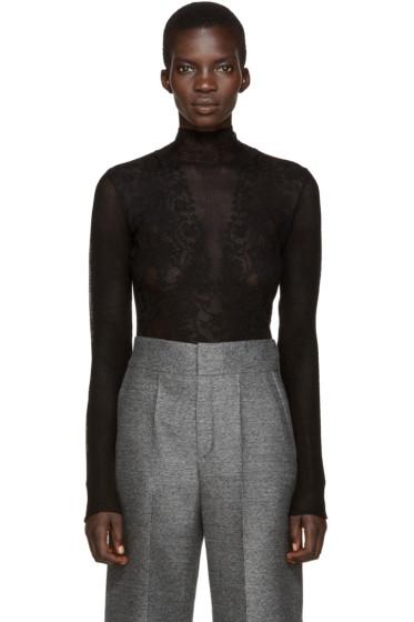 Lanvin - Black Stretch Lace Top