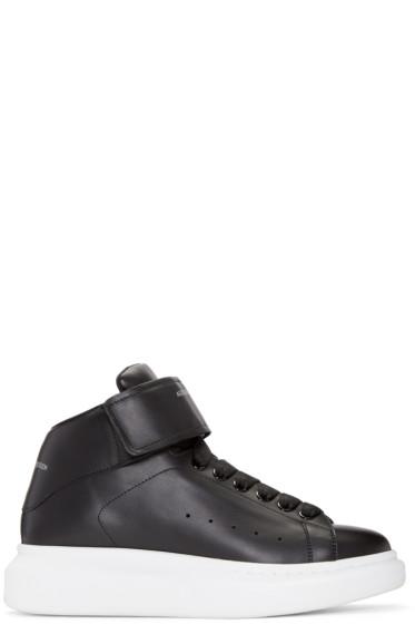 Alexander McQueen - Black Oversized High-Top Sneakers