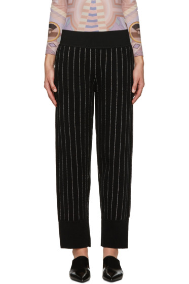 Opening Ceremony - Black Metallic Pinstripe Trousers