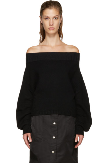 Opening Ceremony - Black Off-The-Shoulder Sweater