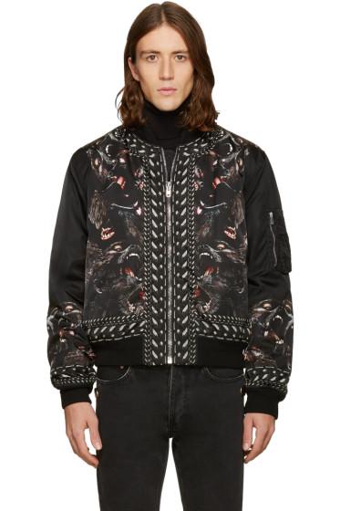 Givenchy - Black Monkey Brothers Bomber Jacket