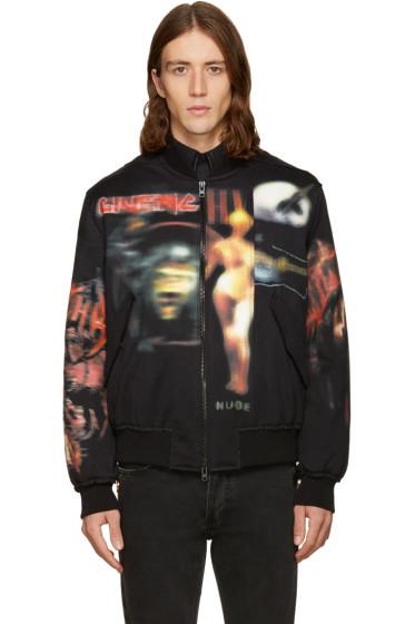 Givenchy - Black Heavy Metal Bomber Jacket