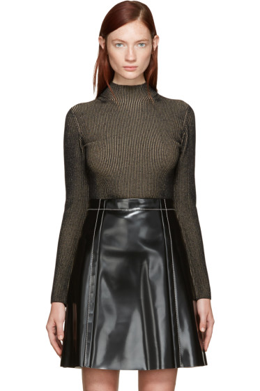 Proenza Schouler - Black & Tan Ribbed Turtleneck
