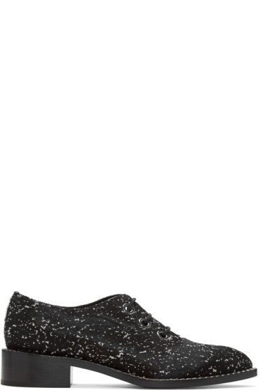 Proenza Schouler - Black Calf-Hair Splash Oxfords