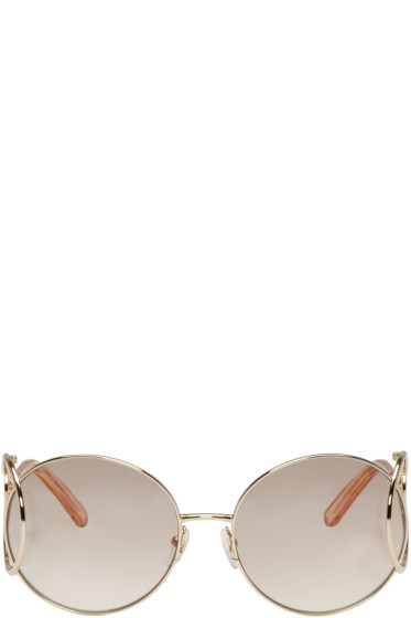 Chloé - Gold Round Jackson Sunglasses