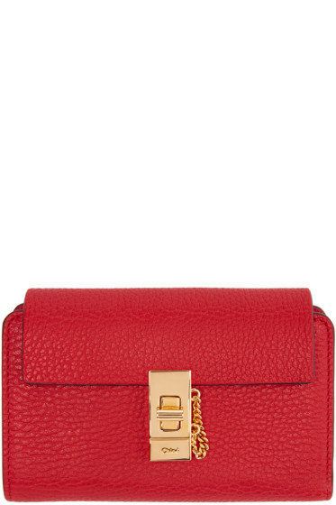 Chloé - Red Drew Compact Wallet