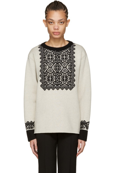 Chloé - Beige Wool Stencil Sweater