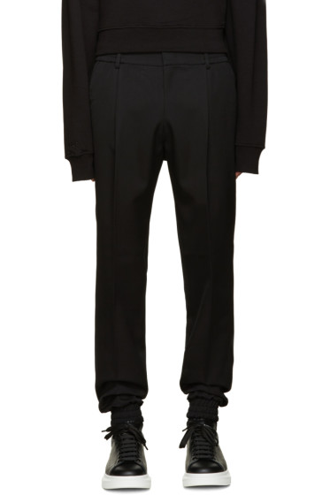 Juun.J - Black Pleated Wool Trousers