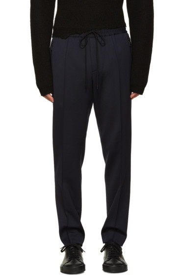 Juun.J - Navy Elastic Band Trousers