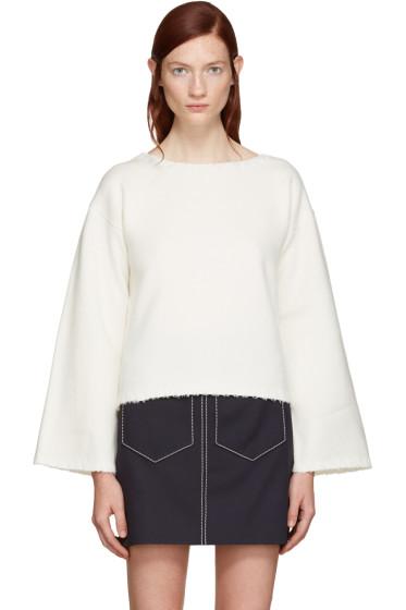 See by Chloé - White Ribbon Trim Sweater